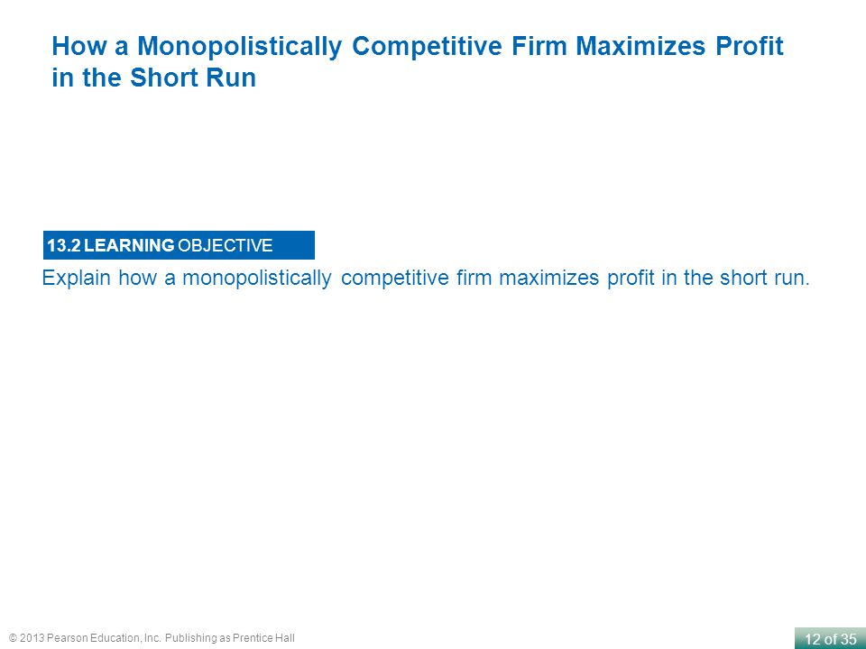 How a Monopolistically Competitive Firm Maximizes Profit in the Short Run