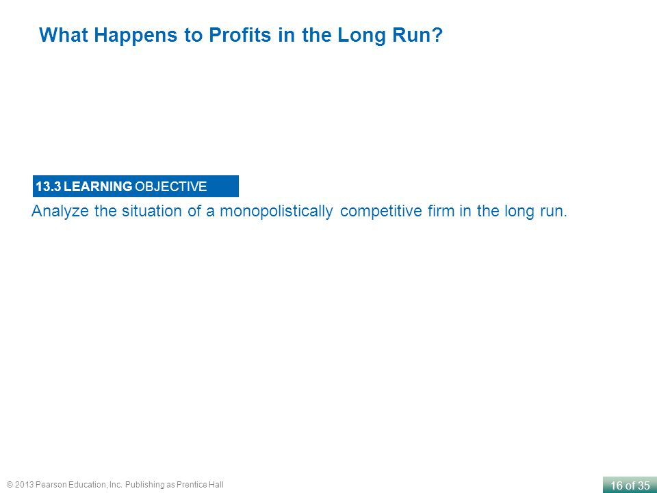 What Happens to Profits in the Long Run