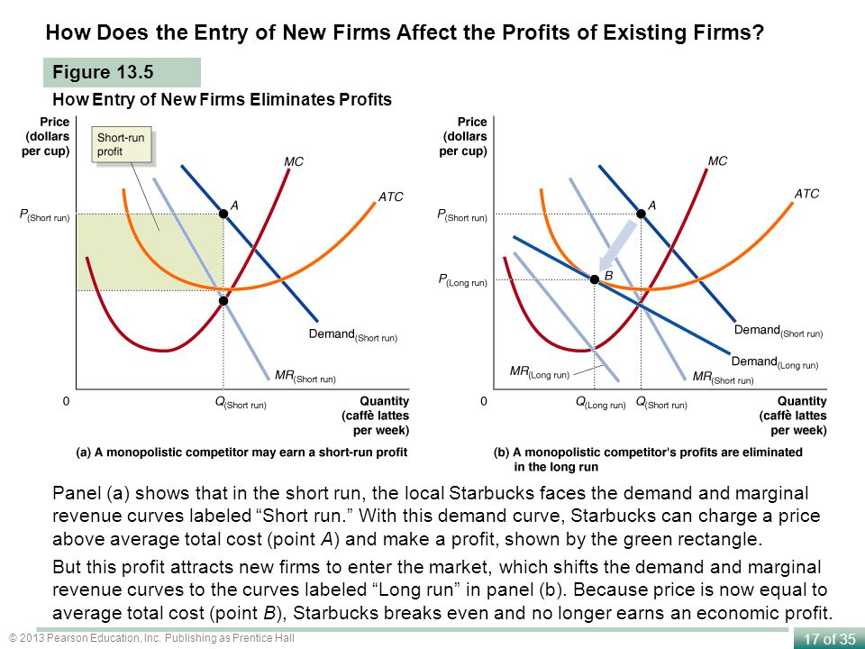 How Does the Entry of New Firms Affect the Profits of Existing Firms