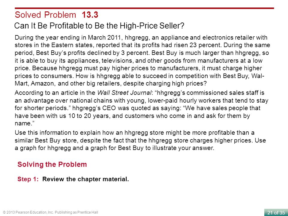Solved Problem 13.3 Can It Be Profitable to Be the High-Price Seller