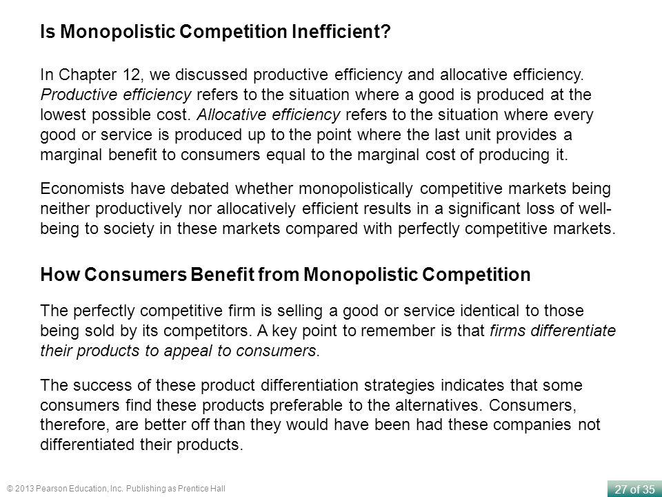 Is Monopolistic Competition Inefficient