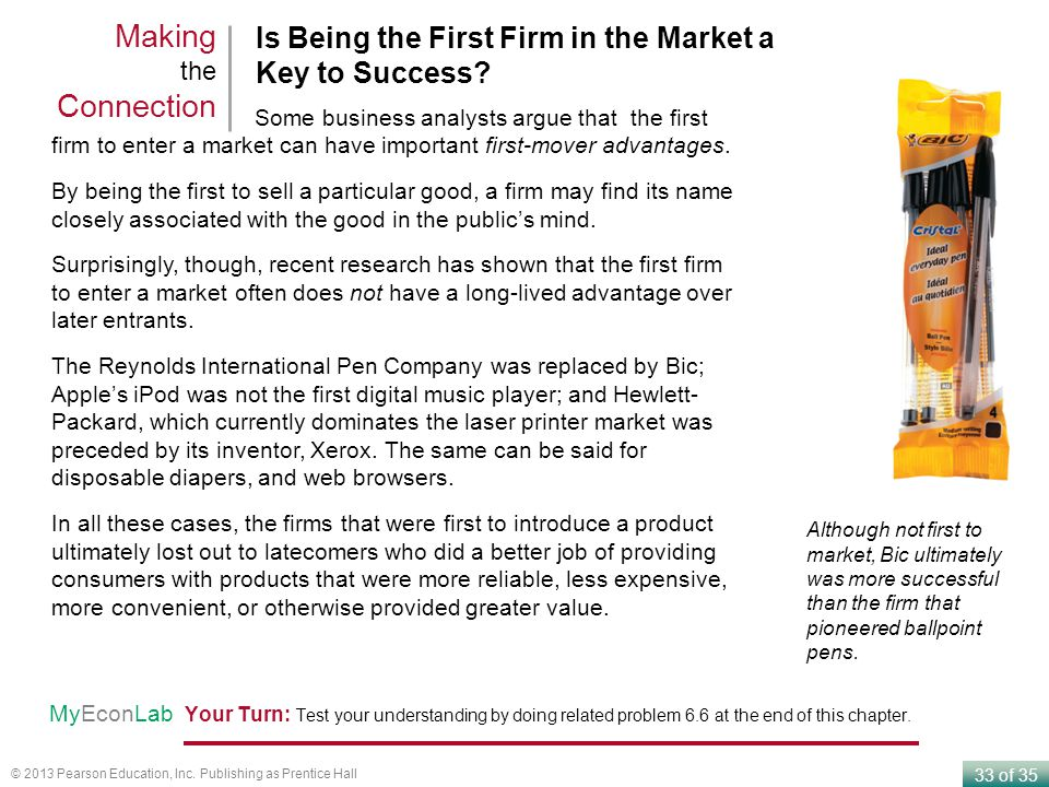 Making the Connection Is Being the First Firm in the Market a Key to Success