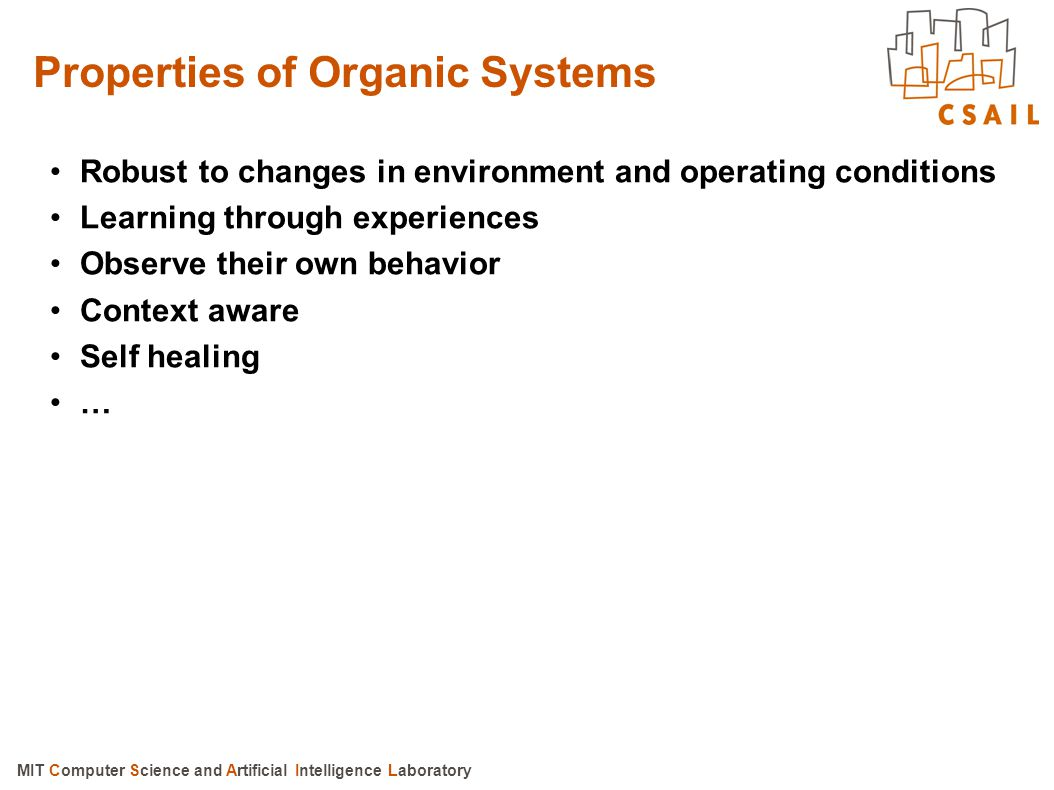 Properties of Organic Systems
