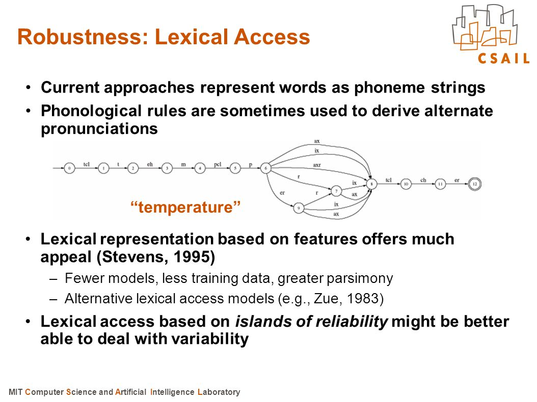 Robustness: Lexical Access