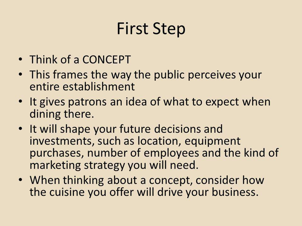 First Step Think of a CONCEPT
