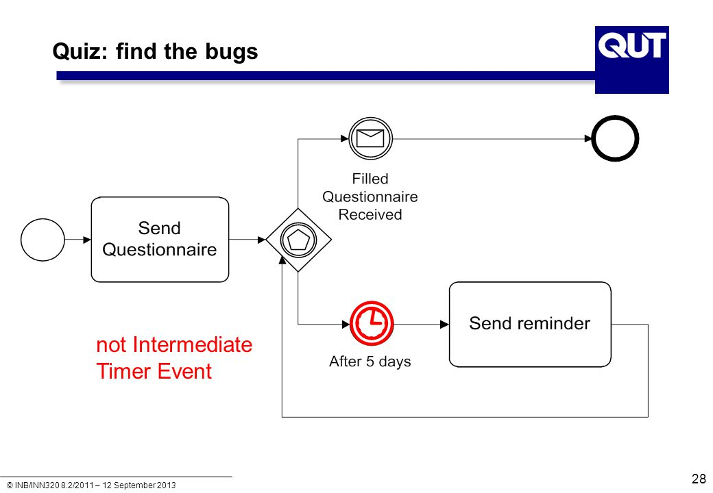 Quiz: find the bugs not Intermediate Timer Event