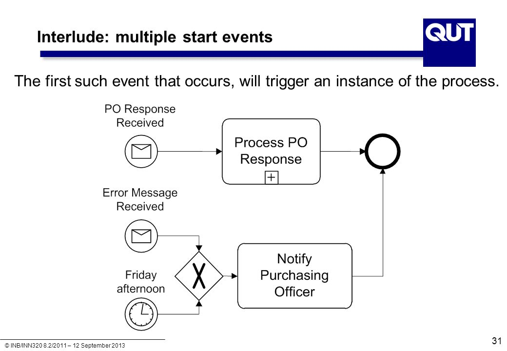 Interlude: multiple start events