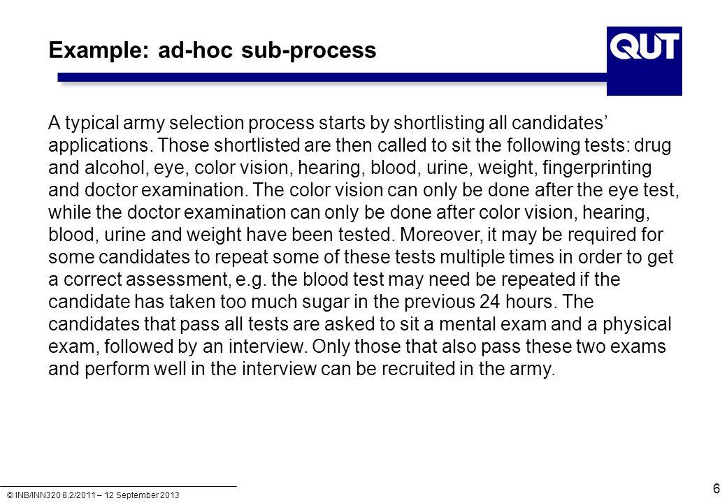 Example: ad-hoc sub-process