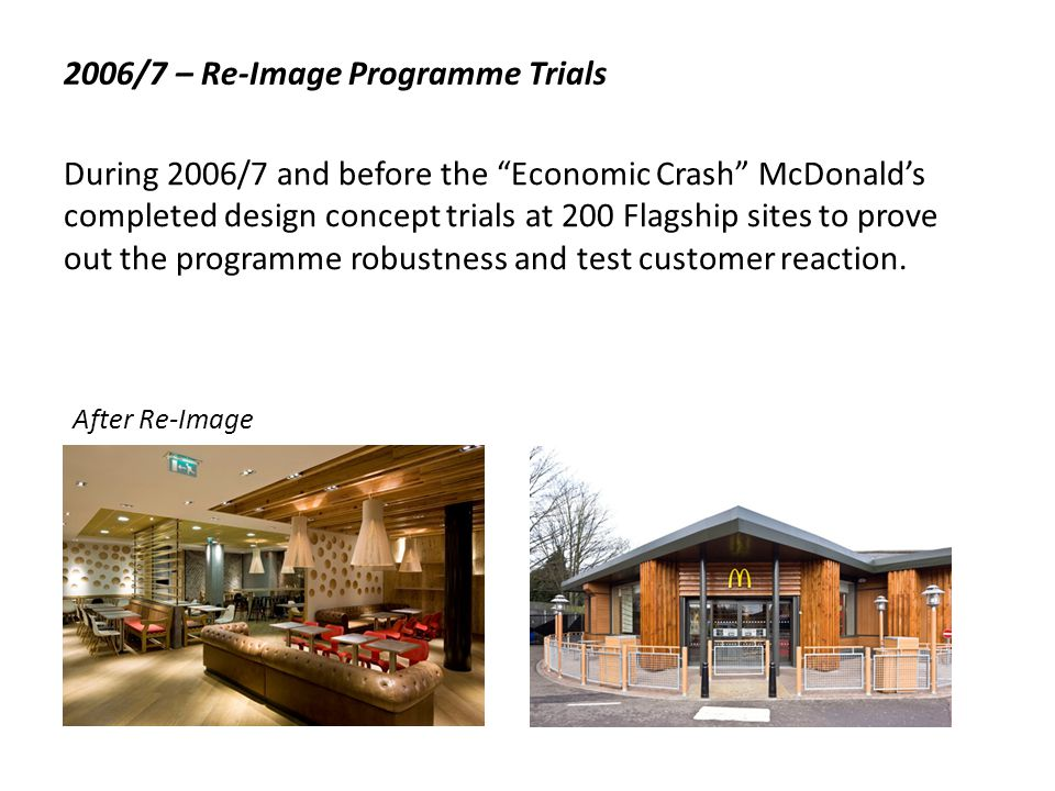 2006/7 – Re-Image Programme Trials