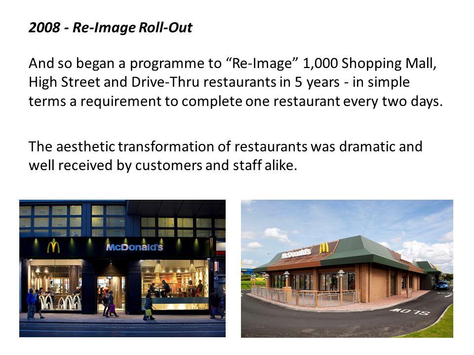 2008 - Re-Image Roll-Out