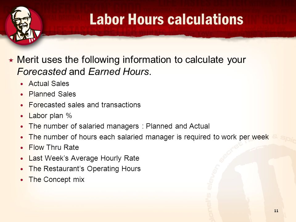 Labor Hours calculations
