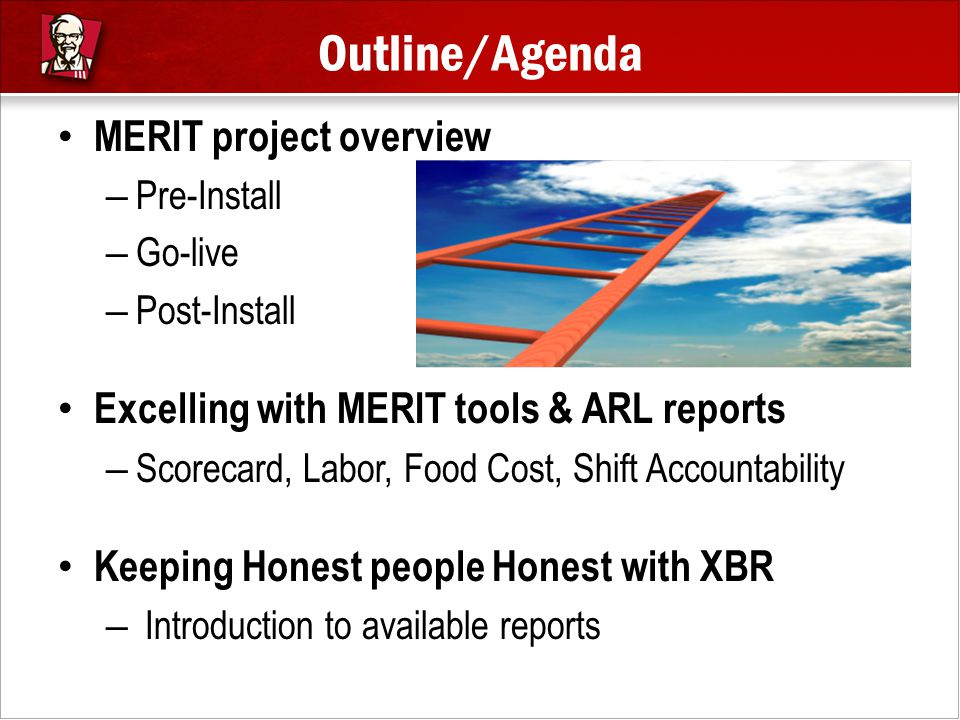 Outline/Agenda MERIT project overview