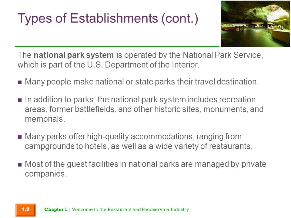 Types of Establishments (cont.)