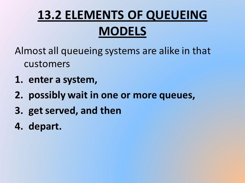 13.2 ELEMENTS OF QUEUEING MODELS