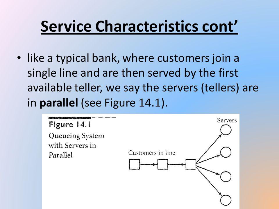 Service Characteristics cont'