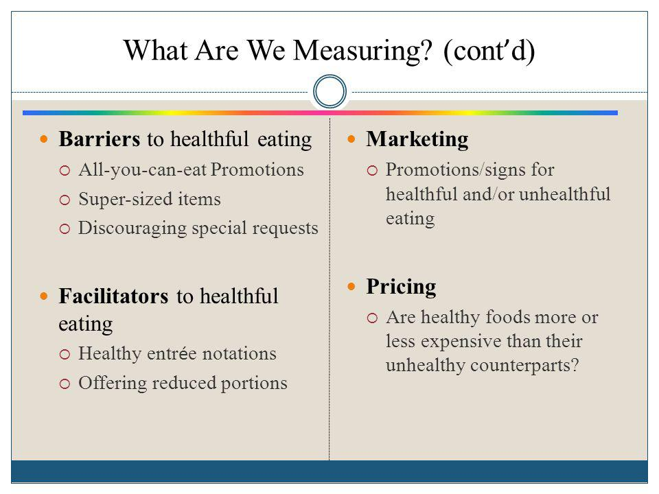 What Are We Measuring (cont'd)