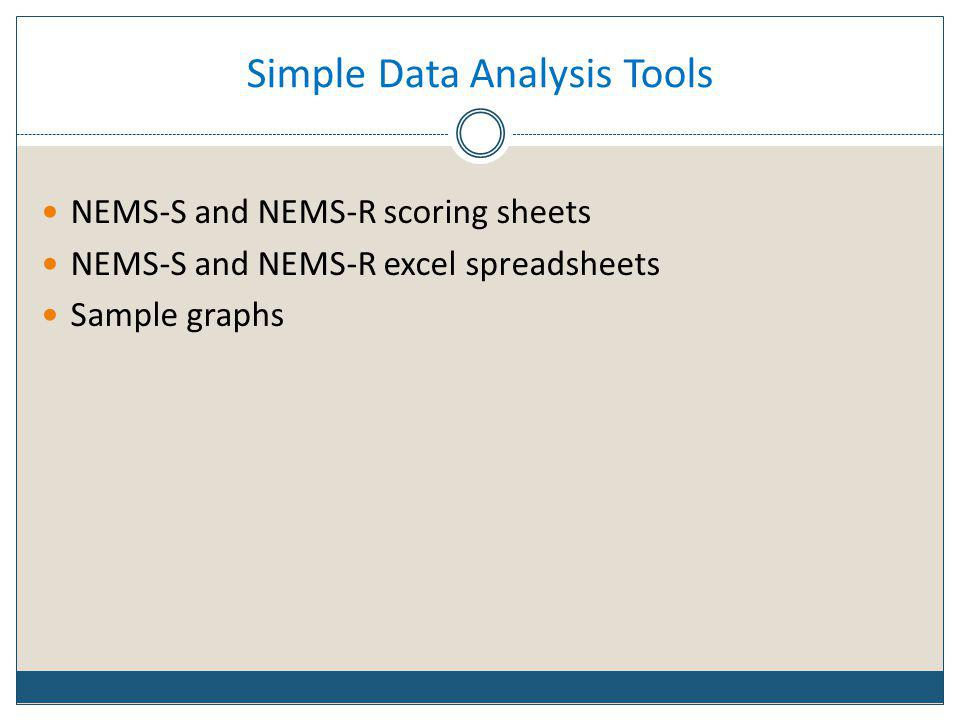 Simple Data Analysis Tools