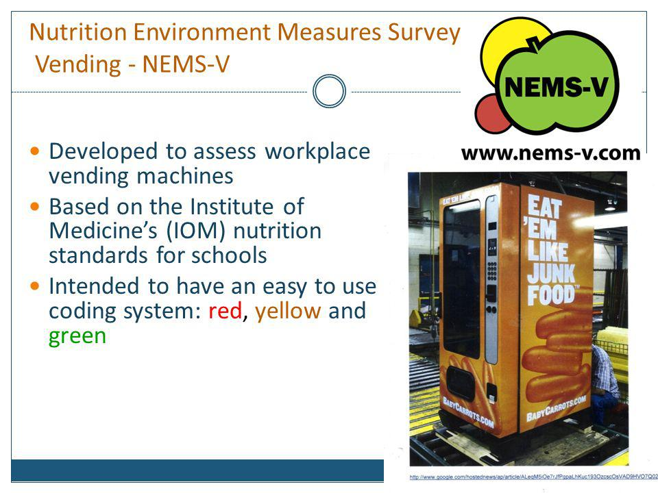 Nutrition Environment Measures Survey Vending - NEMS-V