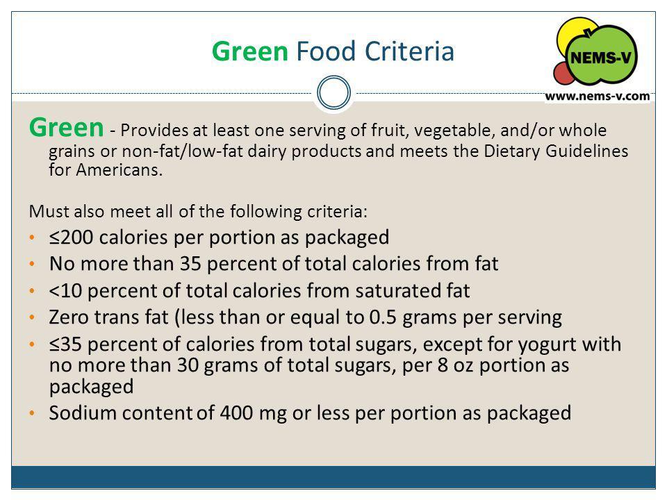Green Food Criteria