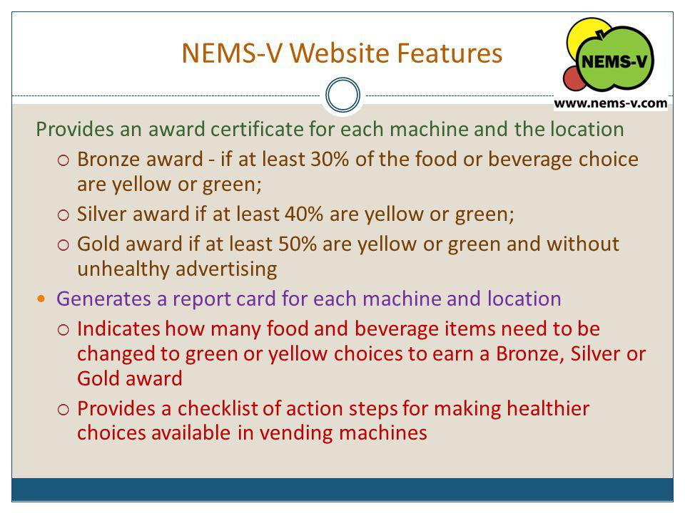 NEMS-V Website Features