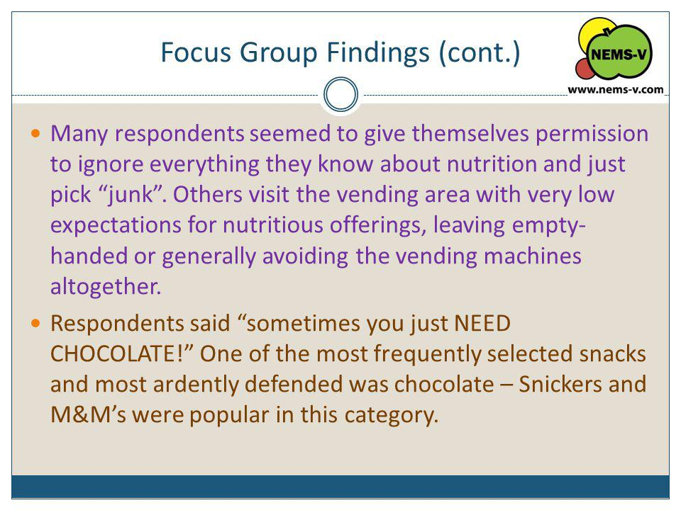 Focus Group Findings (cont.)