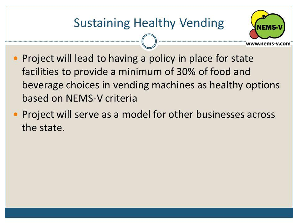 Sustaining Healthy Vending