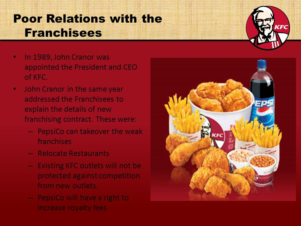 Poor Relations with the Franchisees