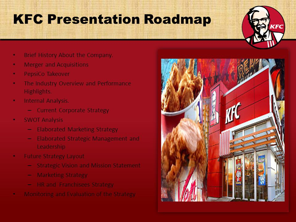 kfc political analysis Pest analysis is an analysis of the political, economic, social and technological factors in the external environment of an organization, which can affect its activities and performance.