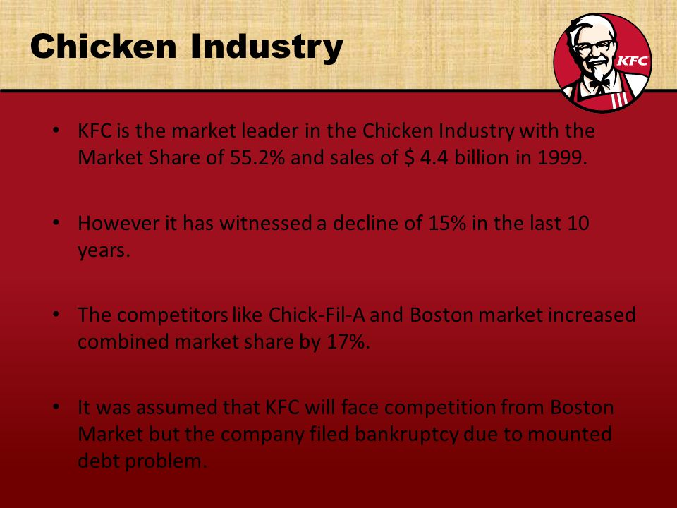 kfc and the global fast food industry Feel free to read sample case study on kfc and the global fast food industry example case analysis of fast food industry.