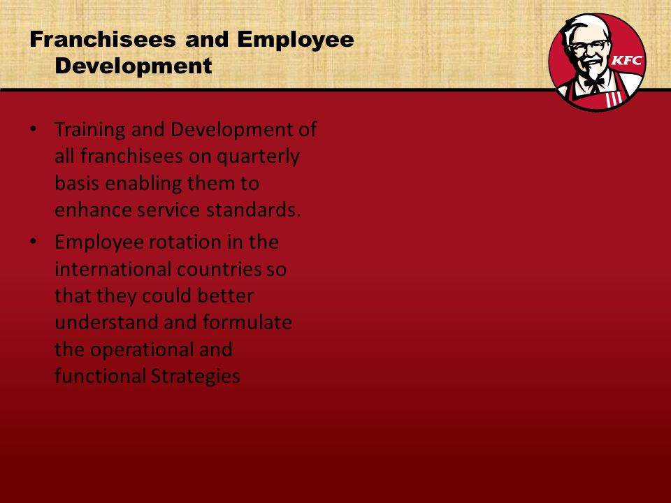 Franchisees and Employee Development