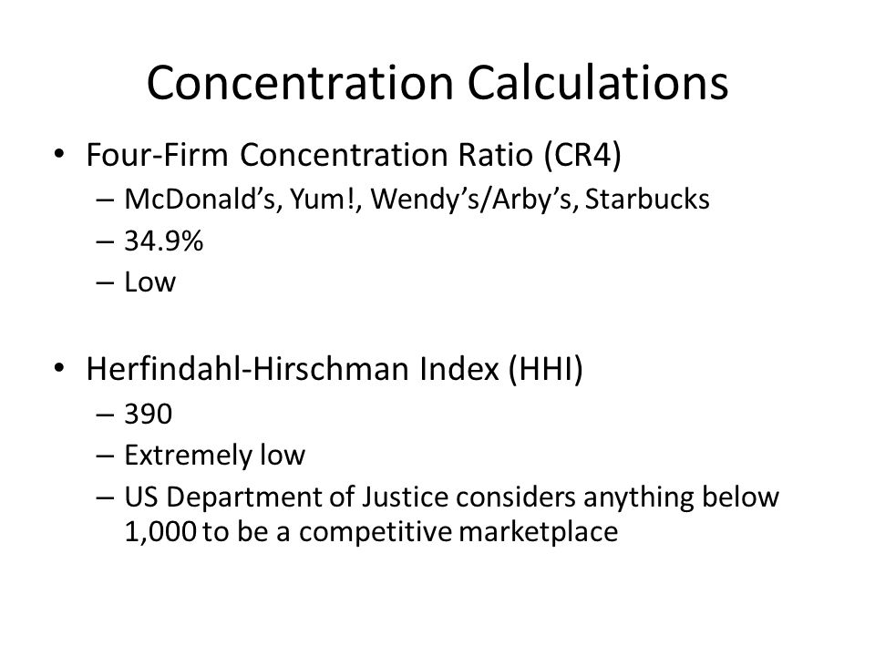 Concentration Calculations