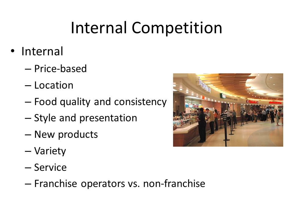 Internal Competition Internal Price-based Location