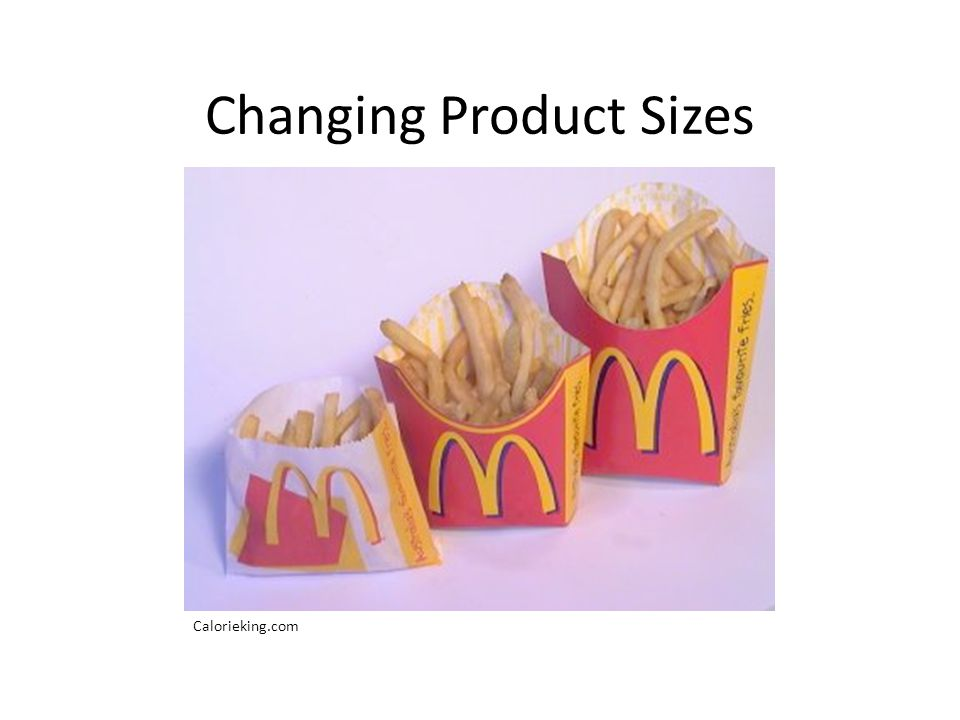 Changing Product Sizes