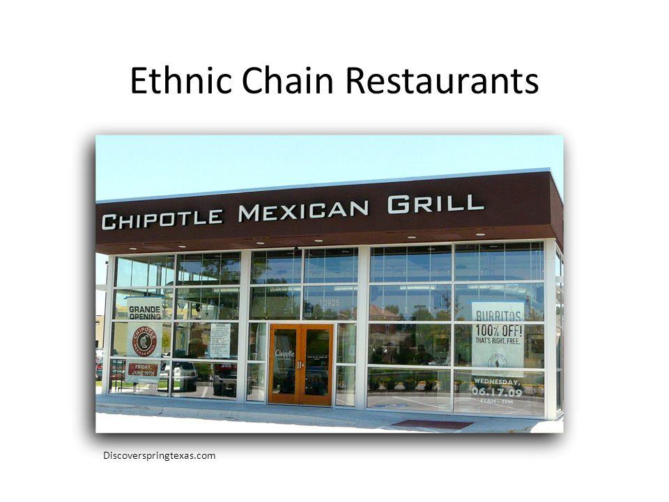 Ethnic Chain Restaurants