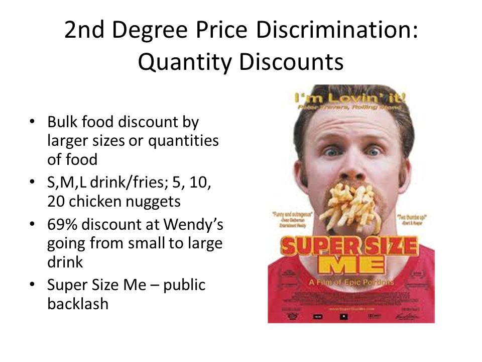 2nd Degree Price Discrimination: Quantity Discounts