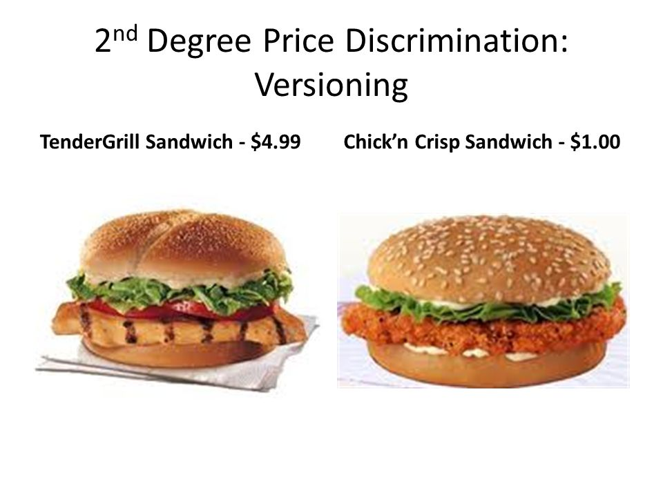2nd Degree Price Discrimination: Versioning