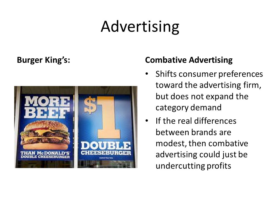 Advertising Burger King's: Combative Advertising