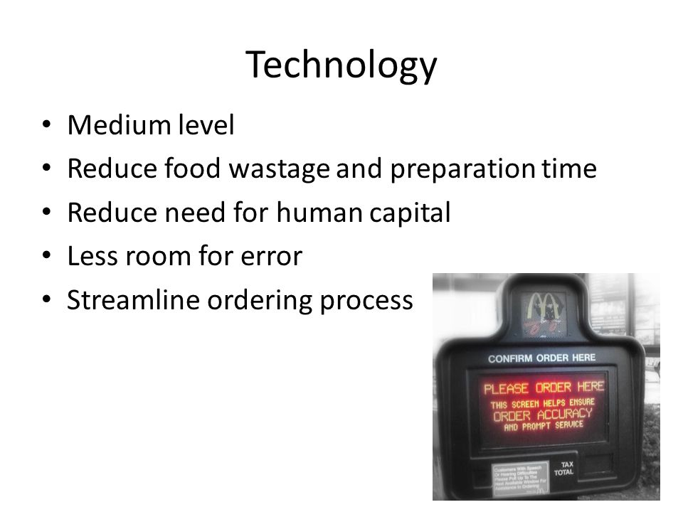 Technology Medium level Reduce food wastage and preparation time