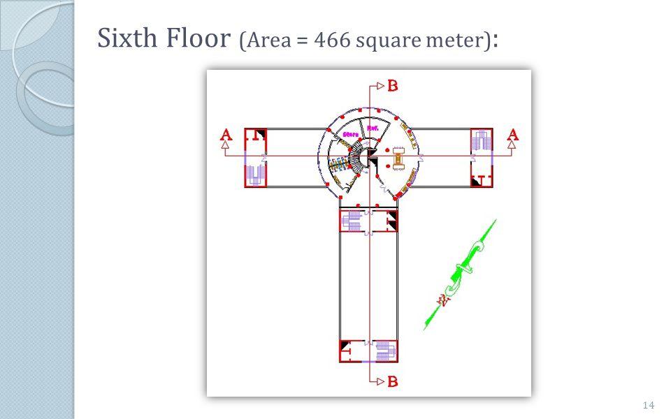 Sixth Floor (Area = 466 square meter):