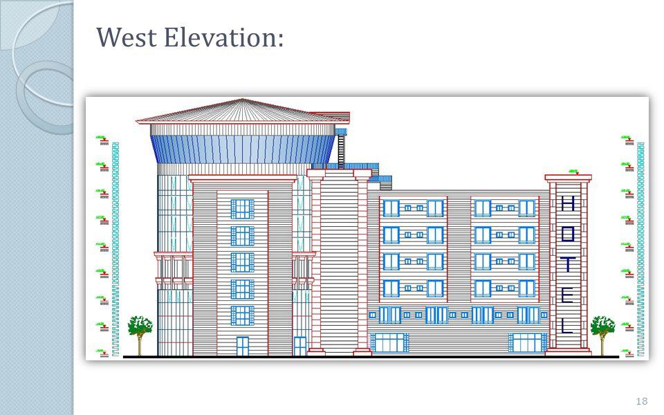 West Elevation: