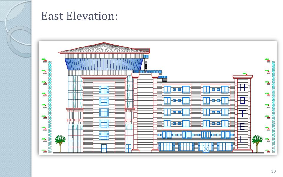 East Elevation: