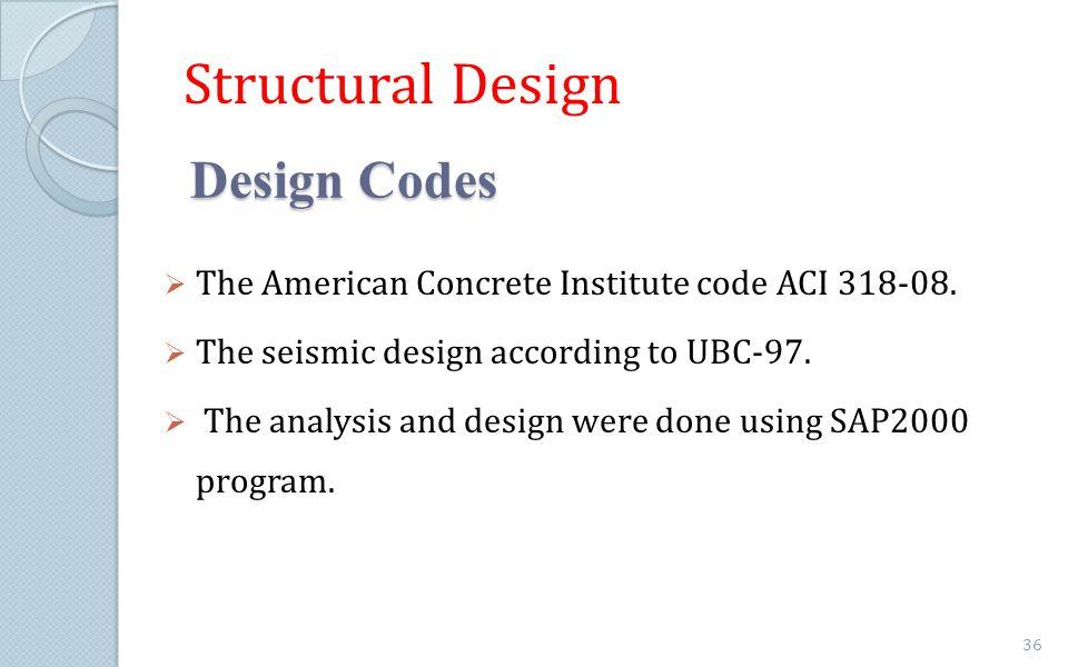 Structural Design Design Codes