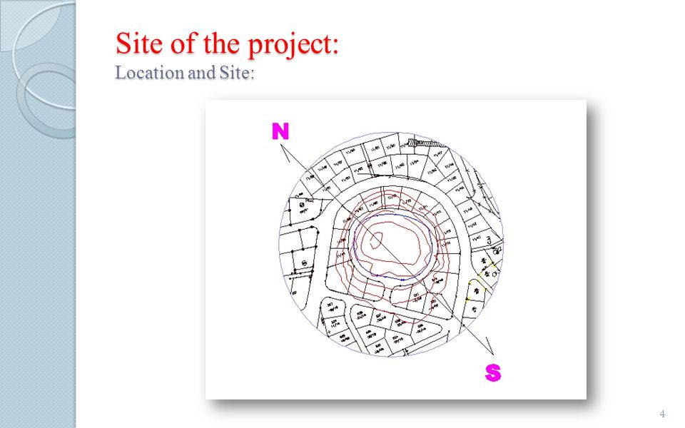 Site of the project: Location and Site: