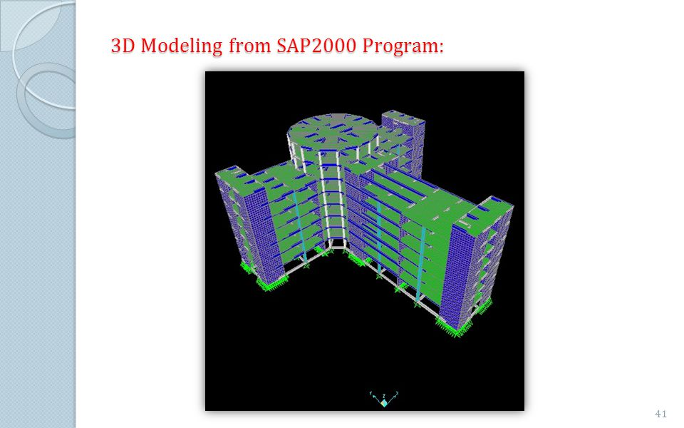 3D Modeling from SAP2000 Program:
