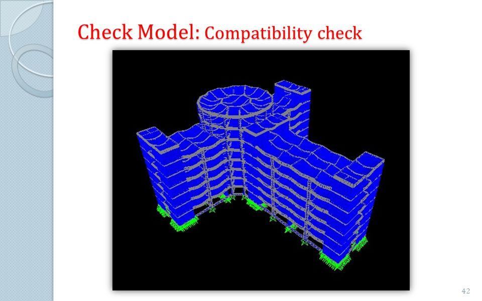 Check Model: Compatibility check