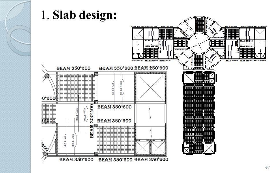 1. Slab design:
