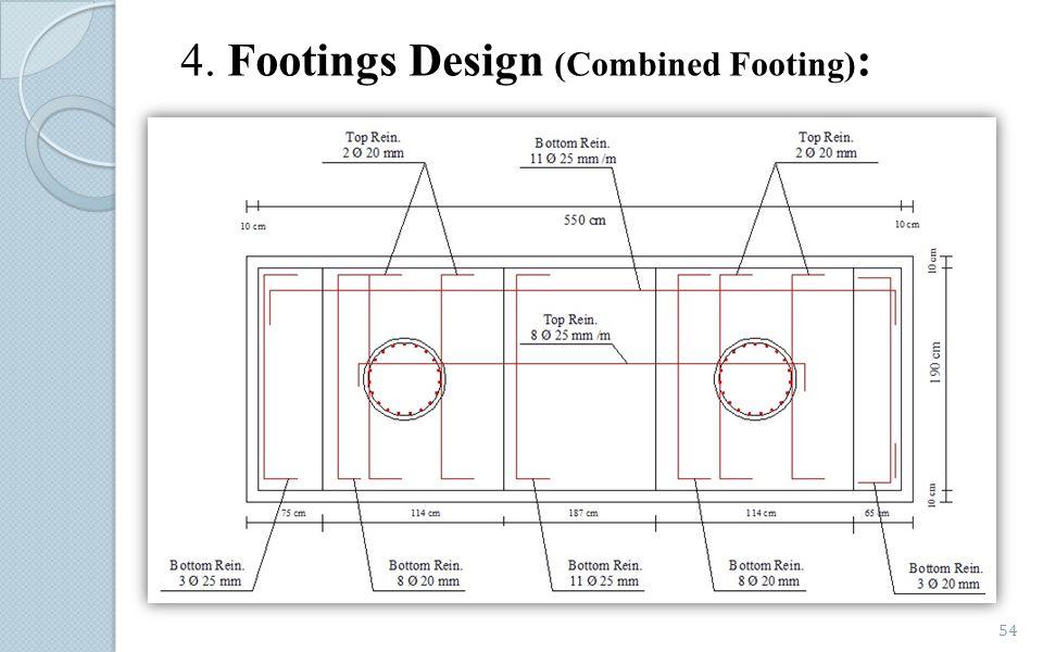 4. Footings Design (Combined Footing):