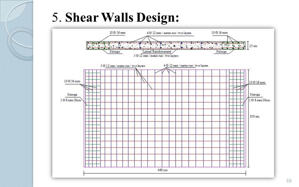 5. Shear Walls Design: