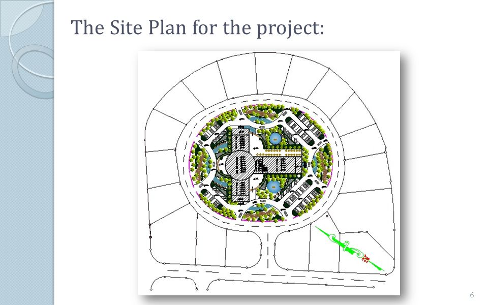 The Site Plan for the project: