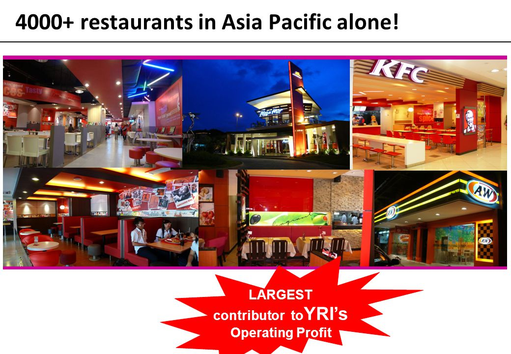 4000+ restaurants in Asia Pacific alone!